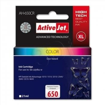 ActiveJet Tusz ActiveJet AH-650CR | color | 21 ml | HP 650 CZ102AE