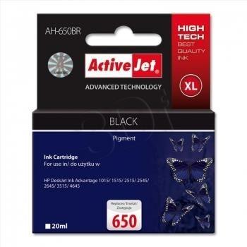 ActiveJet Tusz ActiveJet AH-650BR | Czarny | 20 ml | HP 650 CZ101AE