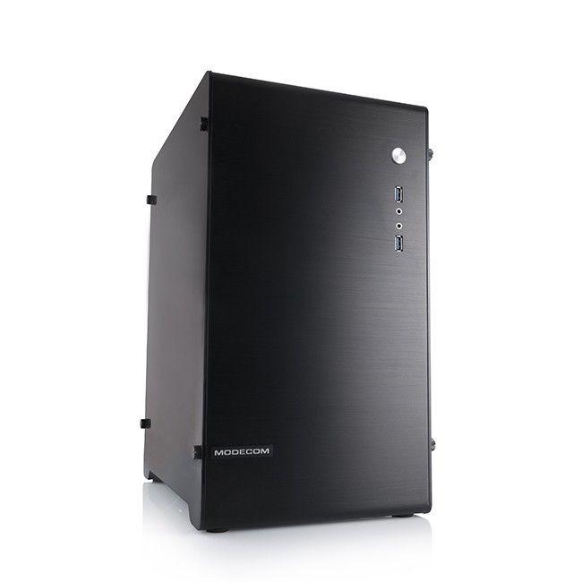 ModeCom ALFA M1 Czarna obudowa komputerowa bez zasilacza