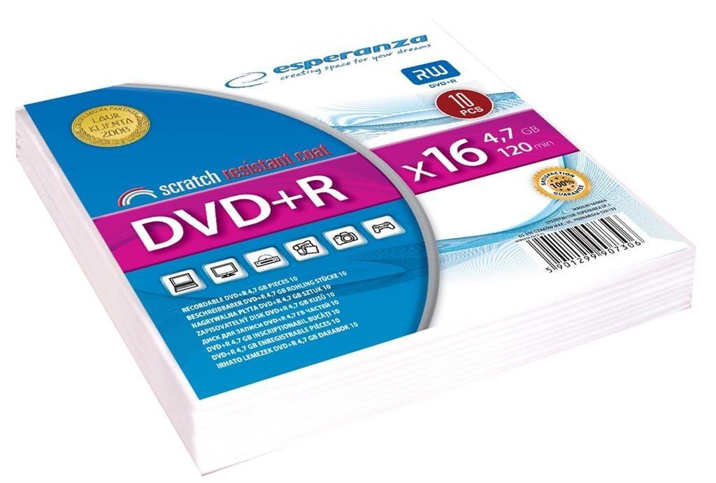 Esperanza DVD+R [ koperta 10 | 4.7GB | 16x ]