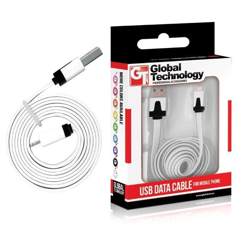 Global Technology GT Kabel USB do iPhone 5 (8-pin) IOS7+ biały