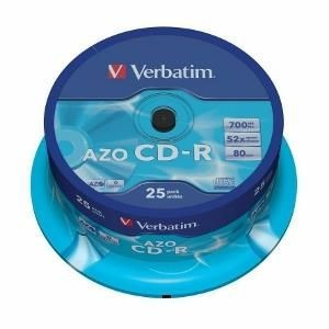 Verbatim CD-R [ cake box 25 | 700MB | 52x | Crystal | DataLife+ AZO ]