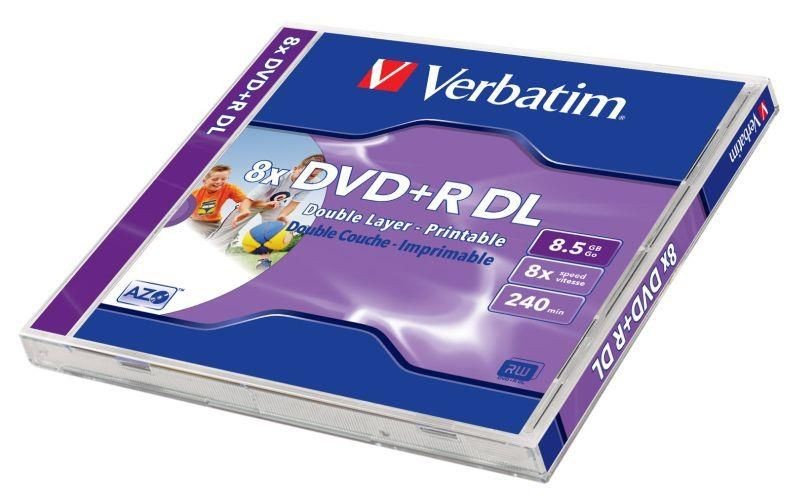 Verbatim DVD+R DL 8.5GB 8x Printable (jewel case, 10szt)