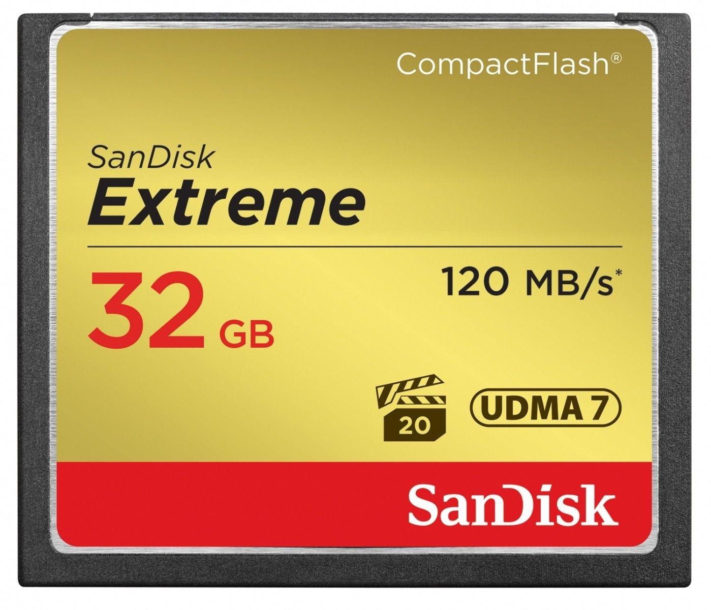 SanDisk karta Compact Flash Extreme 32GB UDMA7 (transfer 120MB/s)
