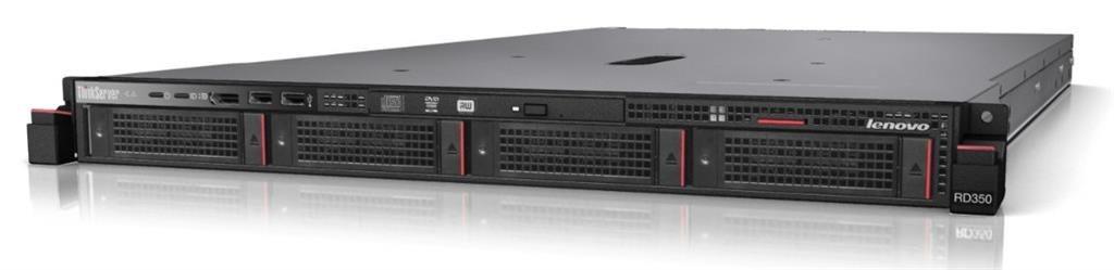 Lenovo RD350 Xeon E5-2609 v3 1x4GB 4x3.5'' HS SATA RAID 110i DVD-RW 2x1Gb 1x450W