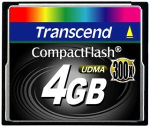 Transcend karta pamięci Compact Flash 4GB High Speed 300x