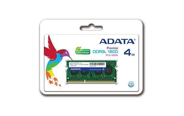 A-Data 4GB 1600MHz DDR3L CL11 SODIMM, 1.35V