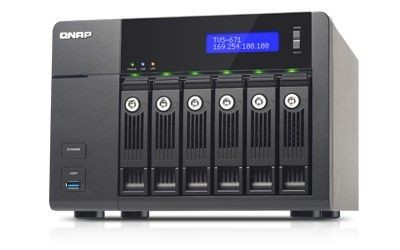 QNAP 6-Bay NAS, 8GB DDR3 RAM (max 10GB), SATA 6Gb/s, 4 x GbE LAN, 10GbE Ready via opt