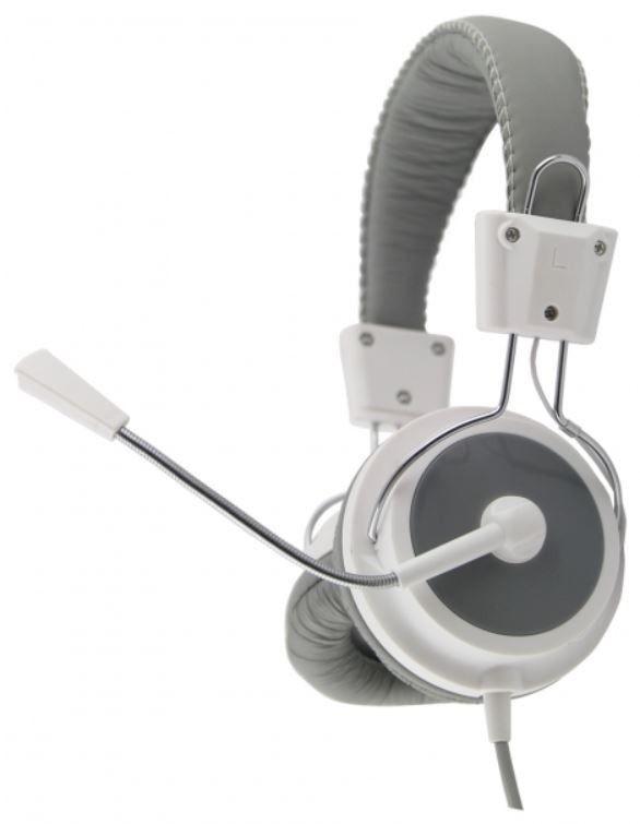 Esperanza Słuchawki Stereo z Mikrofonem i Regulacją Głośności EAGLE EH154W Białe