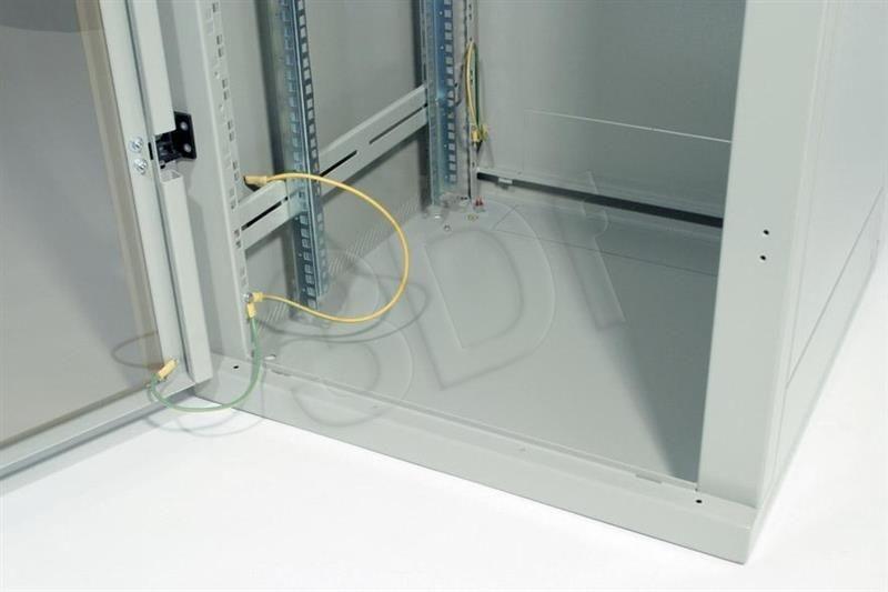 Triton Szafa rack 19 stojąca RMA-27-A69-CAX-A1 (27U 600x900mm trzypunktowe zawiasy przeszklone drzwi kolor jasnoszary RAL7035)