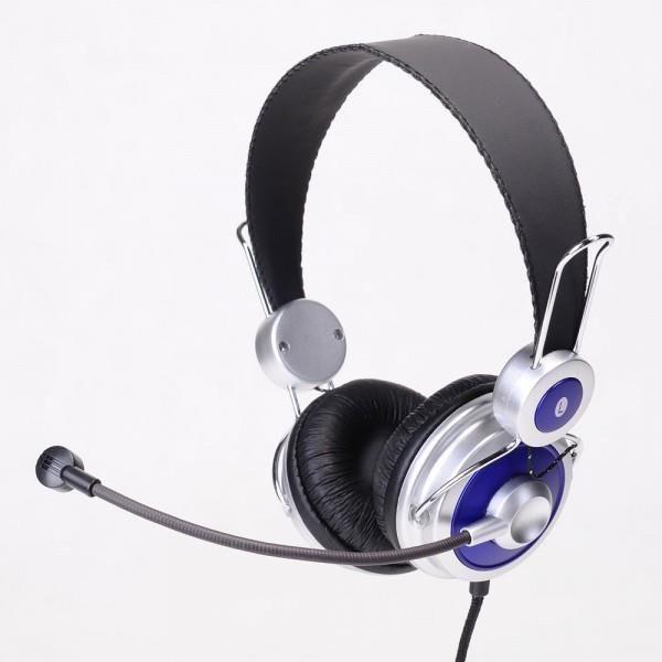 Impuls-PC Słuchawki IP-528 MV nauszne z mikrofonem