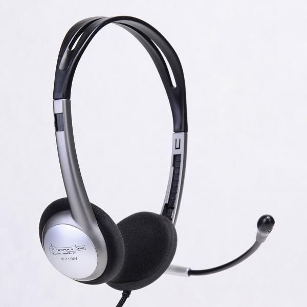Impuls-PC Słuchawki IP-711 MV nauszne z mikrofonem