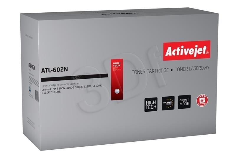ActiveJet Toner ActiveJet ATL-602N | Czarny | 10000 pp | Lexmark 602H (60F2H00)