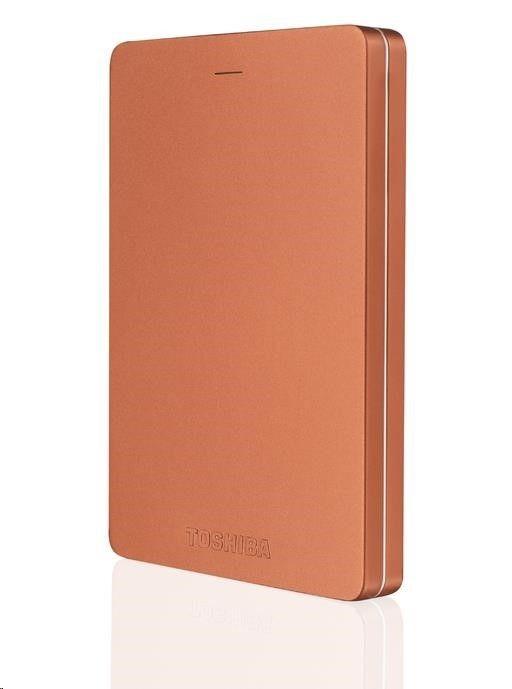 Toshiba Dysk zewnętrzny CANVIO ALU 3S 1000GB 2 5 USB 3.0 USB 2.0 Czerwony HDTH310ER3AA