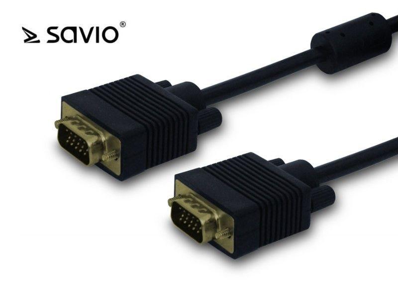 Elmak SAVIO CL-50 Kabel VGA M - VGA M, 2 ferryty, 5m