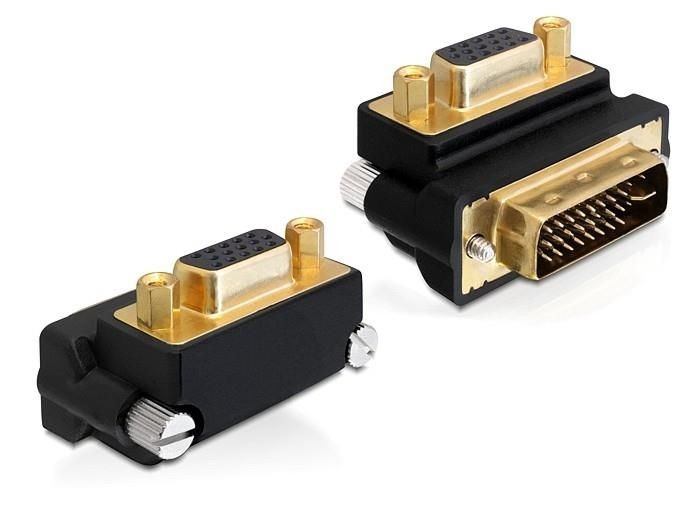 DeLOCK adapter VGA(F)-> DVI(M) 24+5pin kątowy 270°