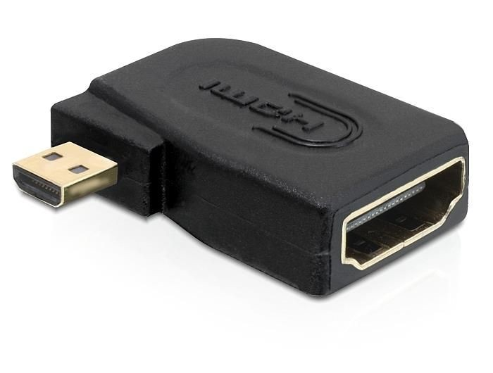 DeLOCK Adapter HDMI-D micro (M) > HDMI (F) kątowy