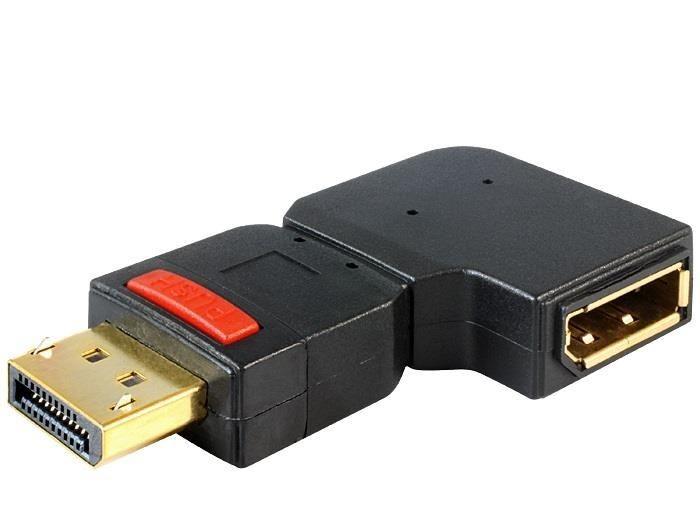 DeLOCK adapter Displayport 1.1 (M) > Displayport (F) kątowy