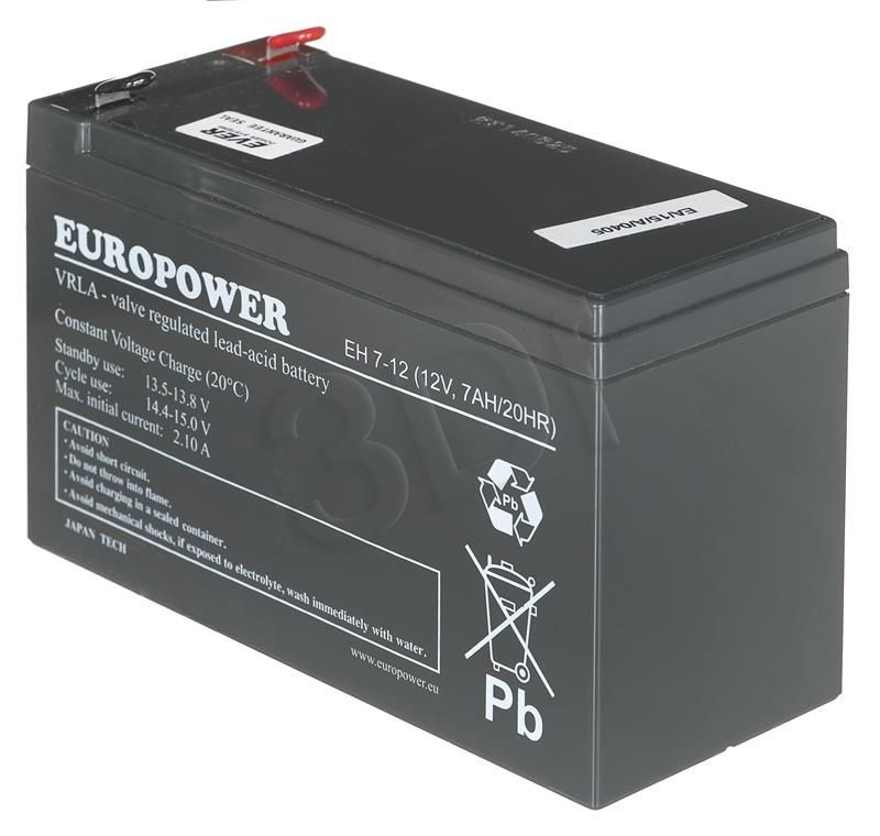 Ever Akumulator Do Ups ( 12V 7000mAh Do Ups Europower 12V 7Ah T2 )