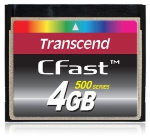 Transcend karta pamięci Compact Flash 4GB CFast 500x