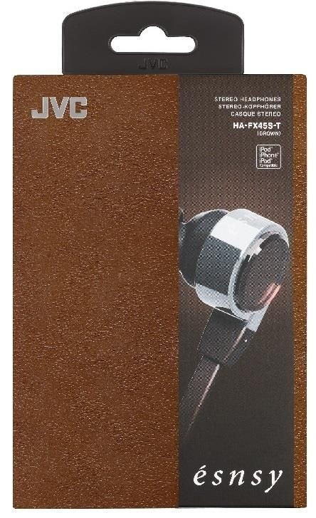 JVC Słuchawki dokanałowe HA-FX45S-T 8.5mm przetwornik, wkładki S/M/L