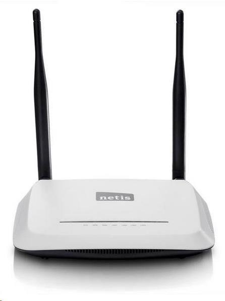 Netis WF-2419-D AP/Router, 4x LAN, 1x WAN, 802.11b/g/n MIMO 300Mbps, firewall, odpojitelná anténa 2x5 dBi, VLAN, IPTV