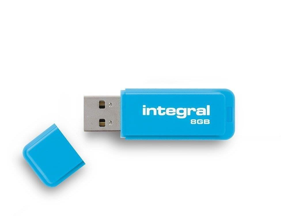 Integral pamięć USB Neon 8GB USB 2.0 - kolor niebieski