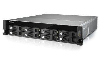QNAP 8-Bay NAS, 8GB DDR3 RAM (max 10GB), SATA 6Gb/s,4xGbE LAN,10GbE Ready, w/o rails