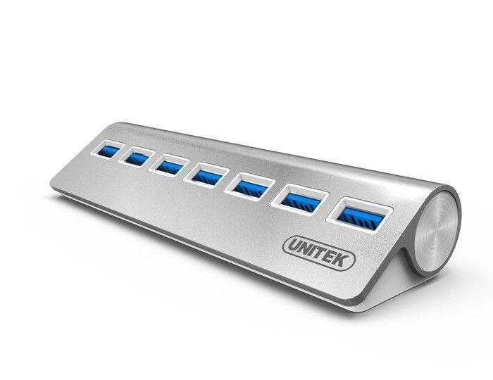 Unitek Hub 7x USB 3.0. aluminium, Y-3187