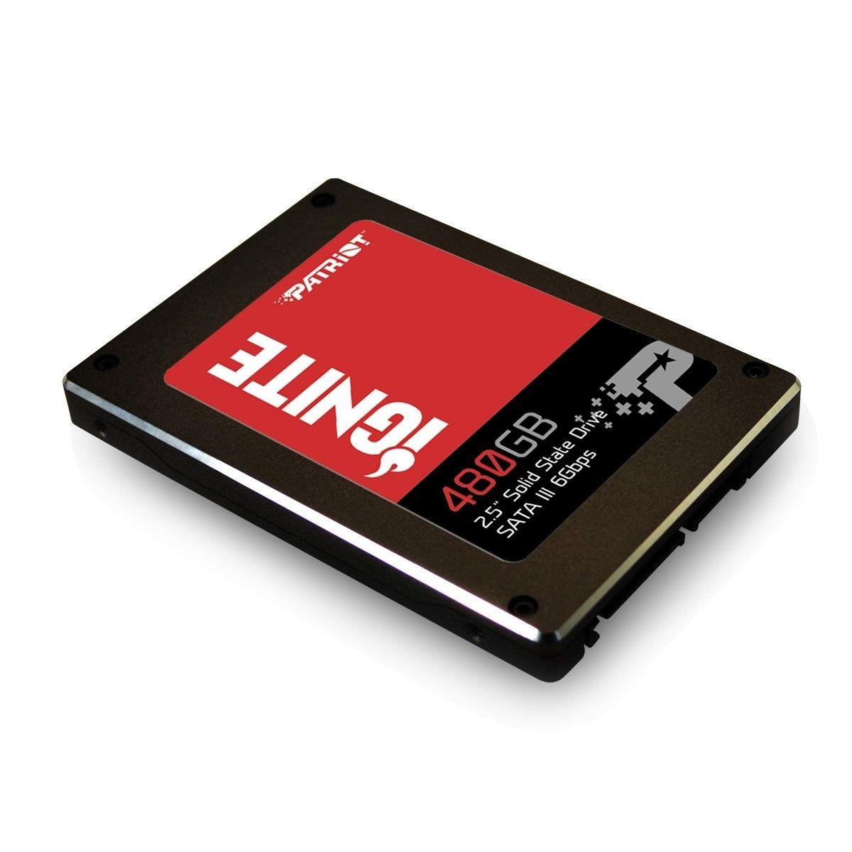 Patriot SSD 480GB Ignite 2.5 SATA III Read:Write (560/545MB/s) IOPs 80/75K