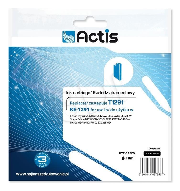 Actis Tusz Actis KE-1291 (do drukarki Epson zamiennik T1291 standard 18ml czarny)