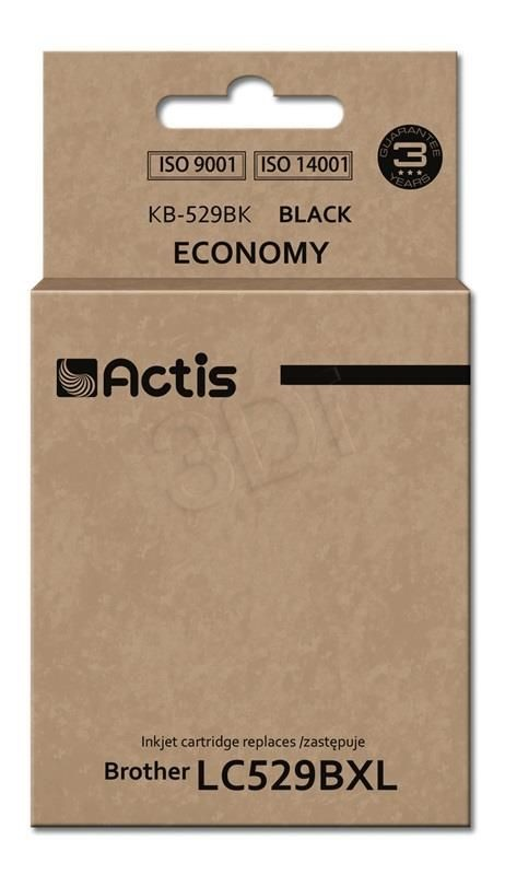Actis KB-529Bk tusz czarny do drukarki Brother (zamiennik Brother LC529Bk) Standard