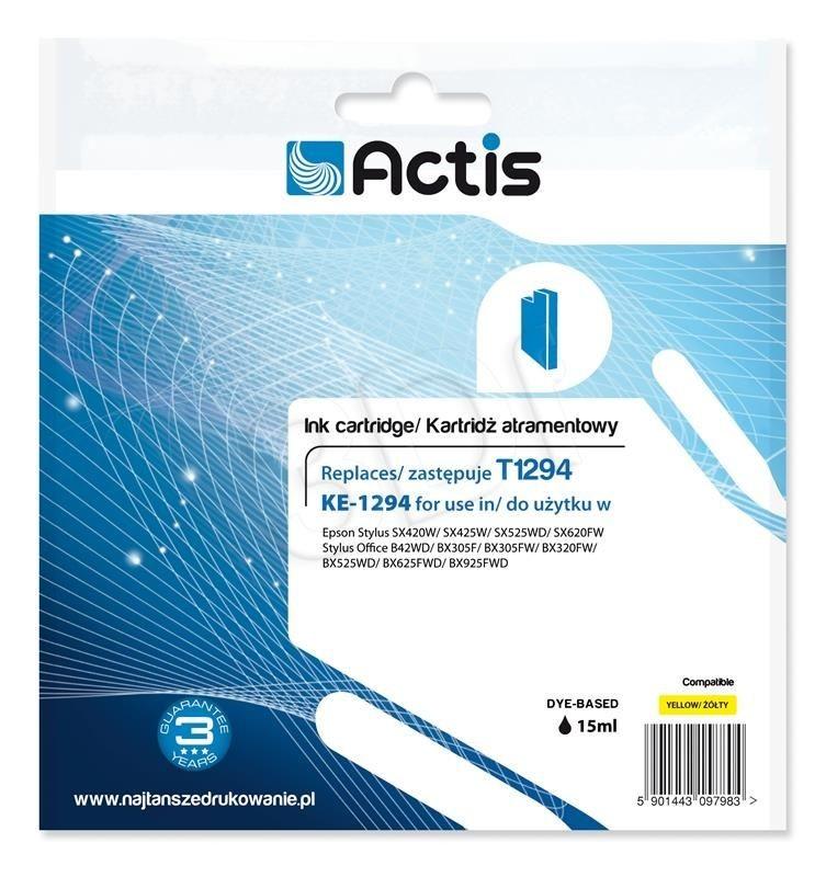 Actis Tusz Actis KE-1294 (do drukarki Epson zamiennik T1294 standard 15ml yellow)