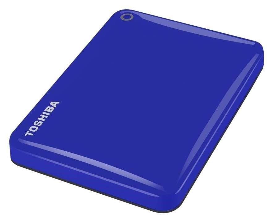 "Toshiba Canvio Connect II 500 GB, 2.5 "", USB 3.0, Blue, 10 GB Cloud Storage (Pogoplug)"