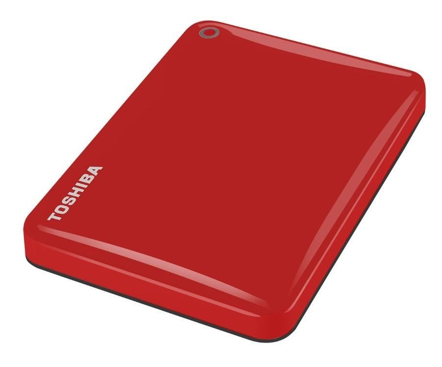 "Toshiba Canvio Connect II 500 GB, 2.5 "", USB 3.0, Red, 10 GB Cloud Storage (Pogoplug)"