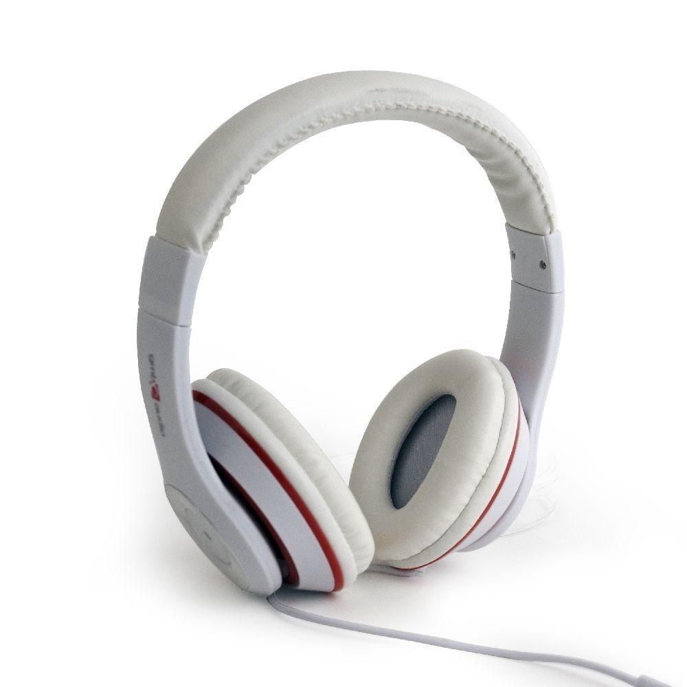 Gembird słuchawki stero LOS ANGELES z mikrofonem i regulacją głośności, białe