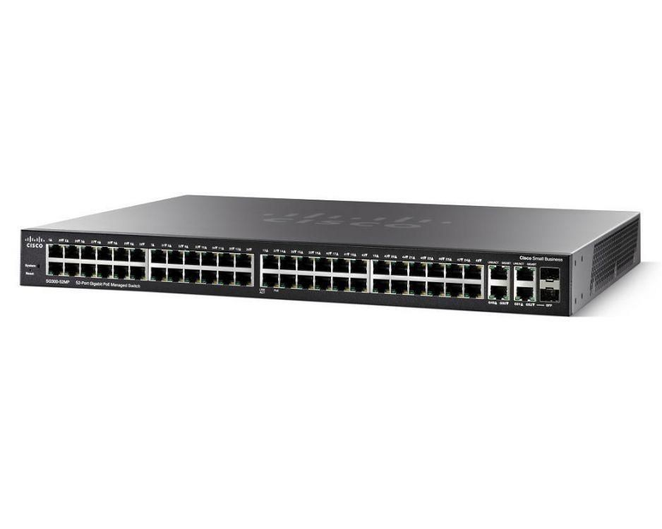 Cisco Systems Switch zarządzalny Cisco SG300-52MP 48x100/1000 PoE 2xSFP