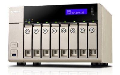 QNAP TVS-863-4G 8x0HDD 4GB 2,4GHz 2LAN 5xUSB3.0