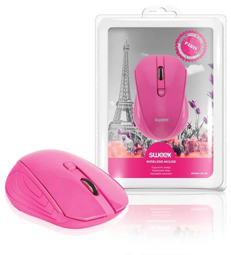 Sweex Mysz Bezprzewodowa Paris różowa