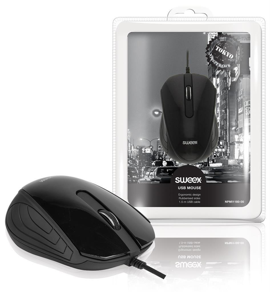 Sweex Mysz optyczna USB Tokyo czarna