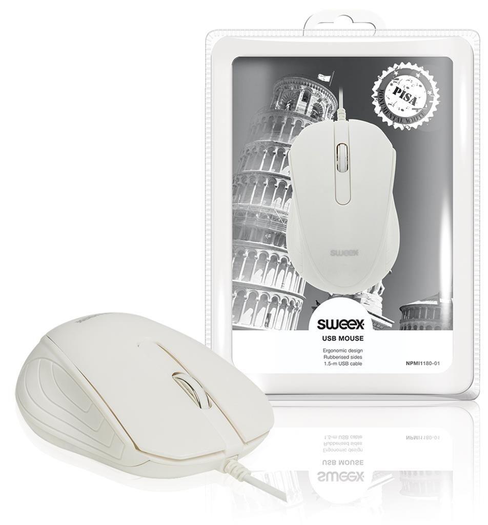 Sweex Mysz optyczna USB Pisa biała