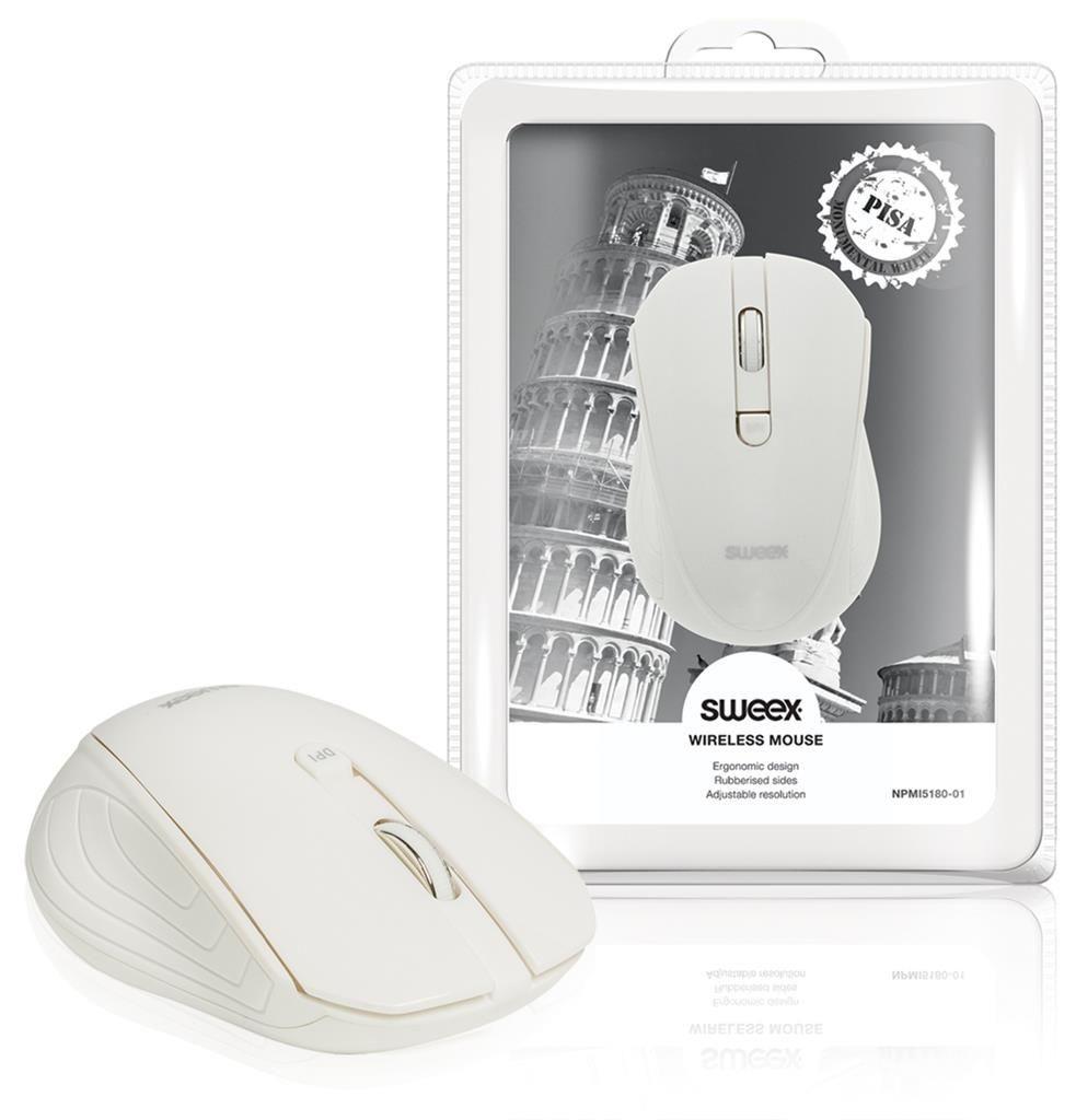 Sweex Mysz Bezprzewodowa Pisa biała