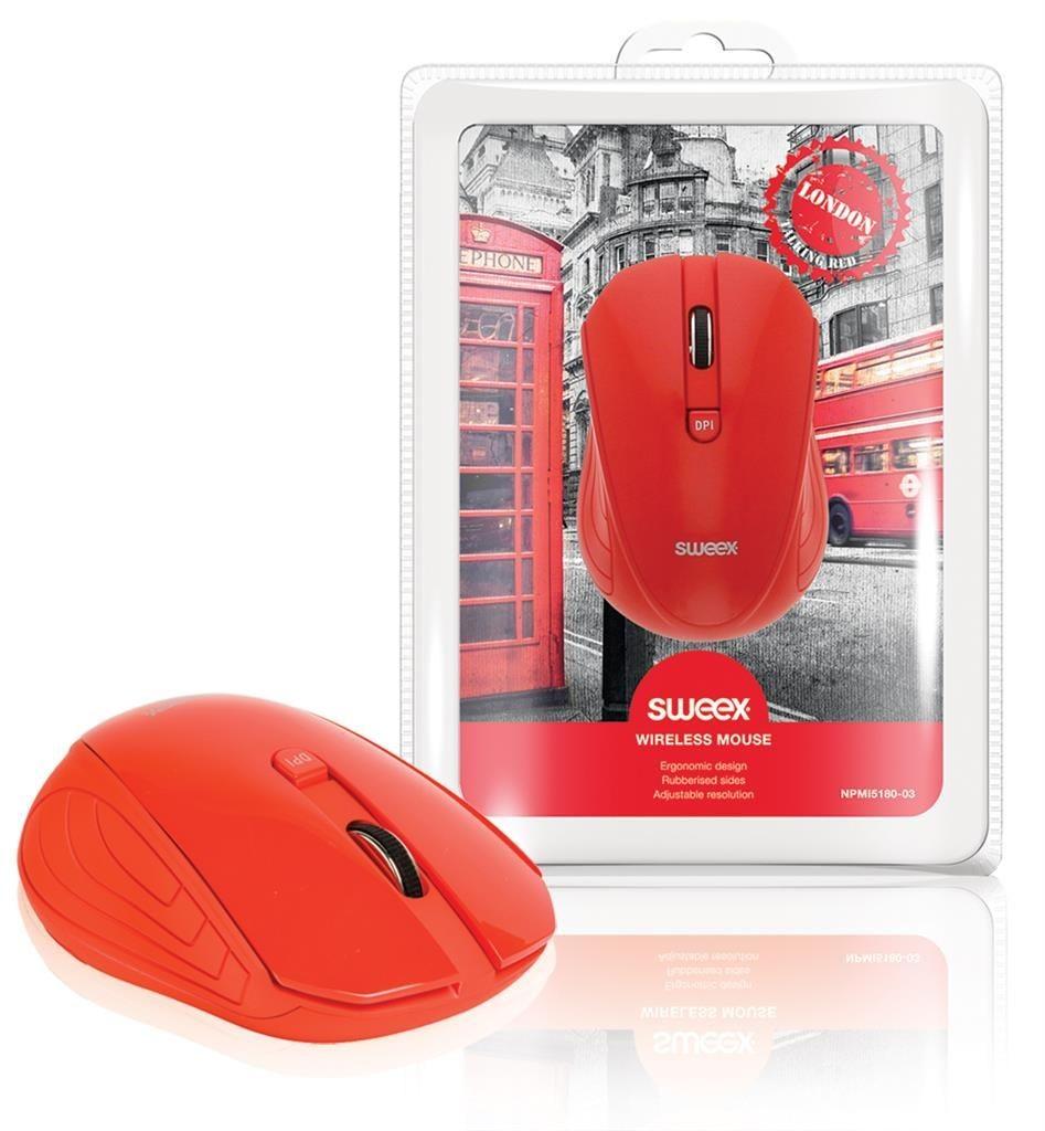 Sweex Mysz Bezprzewodowa Londyn czerwona