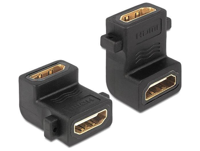 DeLOCK Adapter HDMI-A (F) -> HDMI-A (F) kątowy 90°