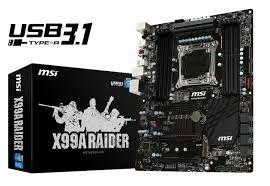 MSI X99A RAIDER, X99, QuadDDR4-2133, SATA3, SATA Express, RAID, USB 3.1, ATX