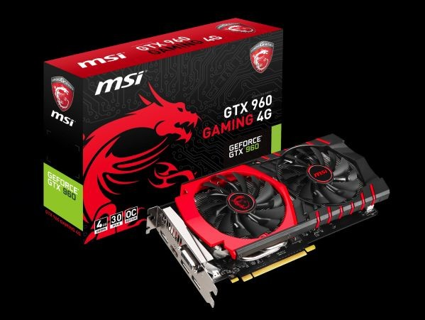 MSI KARTA PCI-E 4096MB GEFORCE GTX960 GAMING DDR5 128bit DVI/HDMI/3xDP retail / MSI