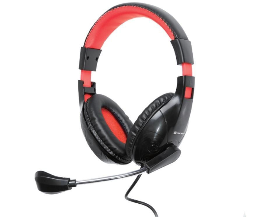 Tracer Słuchawki z mikrofonem DIZZY RED