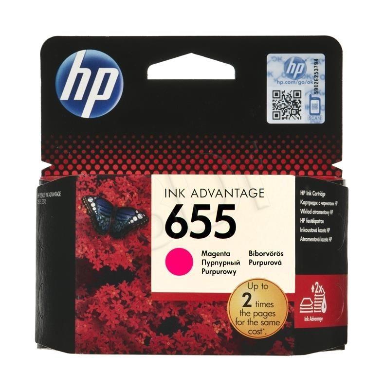 HP Tusz HP HP655 (do drukarki Hewlett Packard oryginał CZ111AE 600str. magenta)
