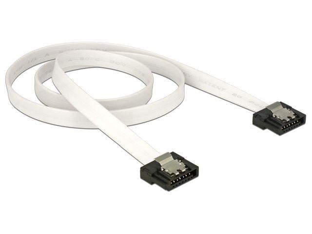DeLOCK kabel do dysków serial ata FLEXI III data 50cm zatrzaski metalowe, biały