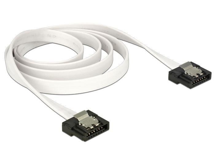 DeLOCK kabel do dysków serial ata FLEXI III data 70cm zatrzaski metalowe, biały